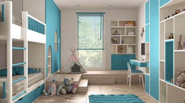 Kinderzimmer mit Möbelfolien