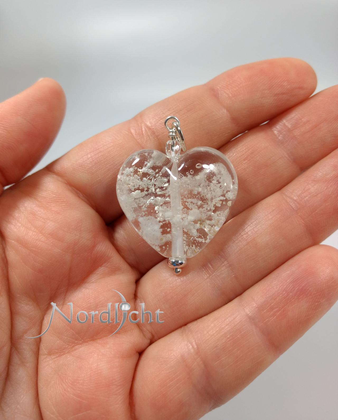 Größenorientierung Herz mit Asche-Einbettung