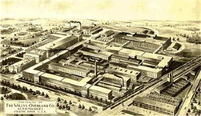 Firmengelände um 1915