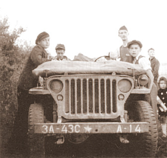Willys MB in Dudelange, Luxemburg am 11.9.1944