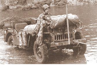 Jeep eines Kriegsfotographen der US-Army in Deutschland 18.9.1944