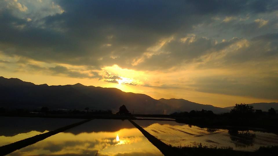 南阿蘇村の夕景
