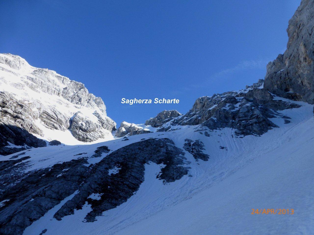 Skitour zur Sagherza Scharte in den Julischen Alpen