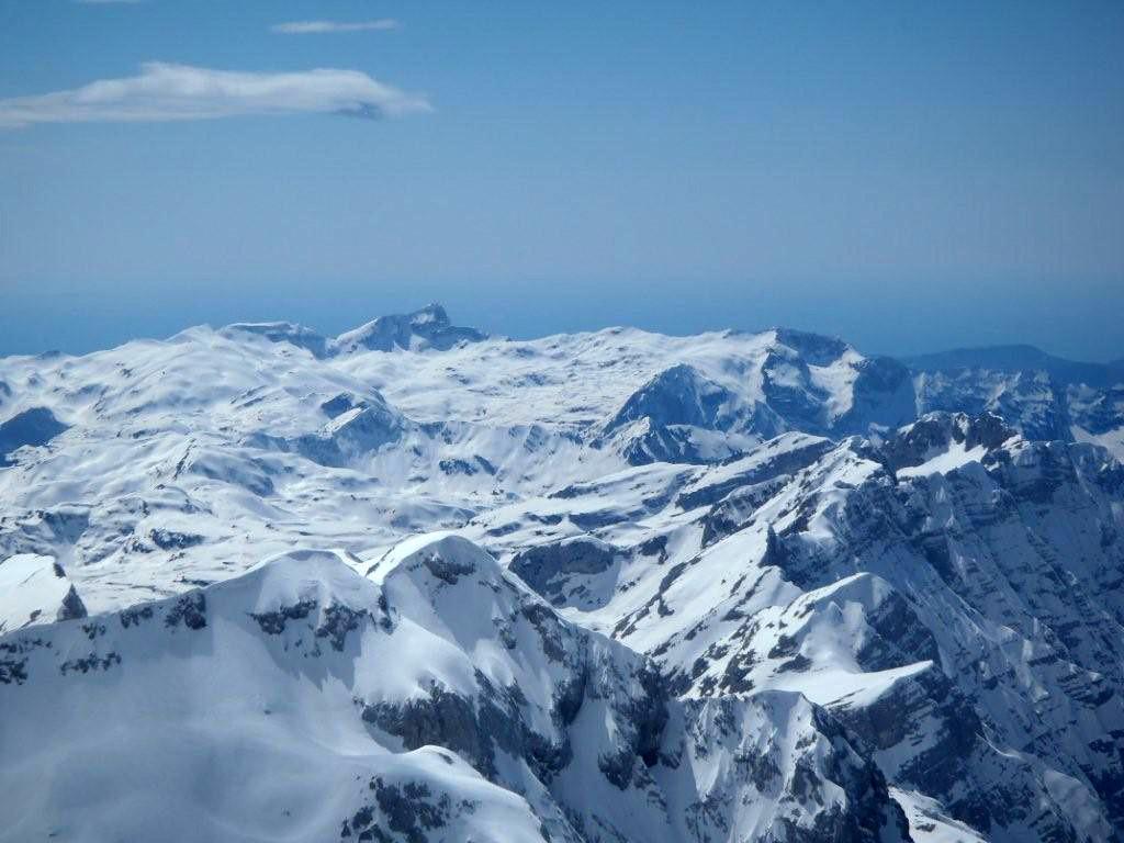 Blick vom Gipfel Richtung Kanjavec