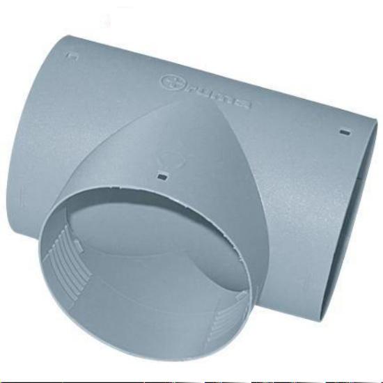 T Stück für Warmluftrohre Truma Grau für 65 mm TS für Wohnwagen /& Wohnmobil