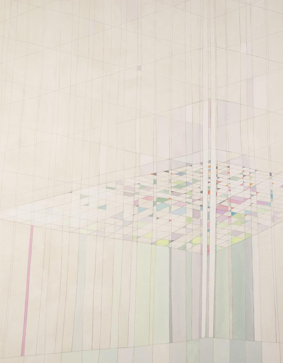 Depot V 2018 Monotypie/Mischtechnik auf Leinwand 160 x 125 cm