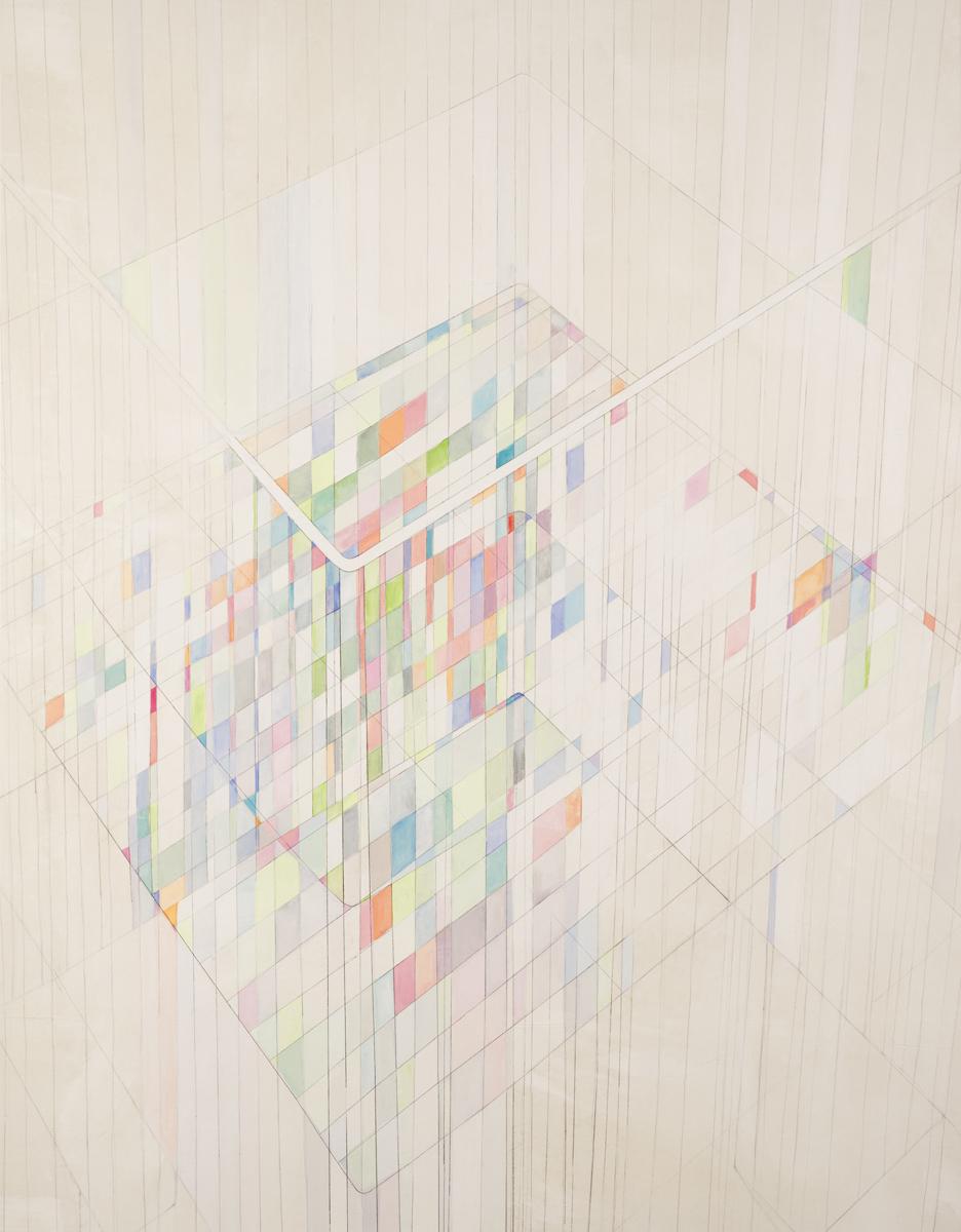Depot IV 2018 Monotypie/Mischtechnik auf Leinwand 160 x 125 cm
