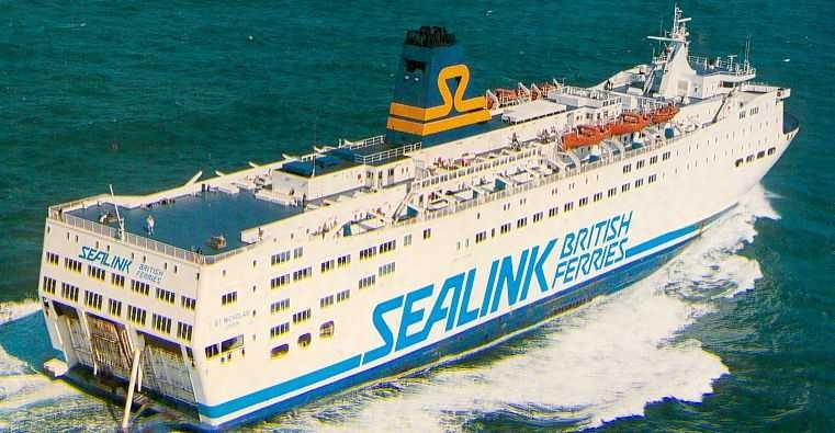 Saint Nicholas (1984-1991/Sealink British Ferries/Hoek Von Holland(NL)-Harwich(UK))