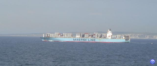 Un Maersk au Blanc Nez (© lebateaublog 2012)