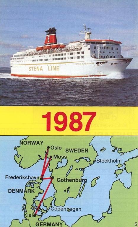Stena Line ad in 1987.