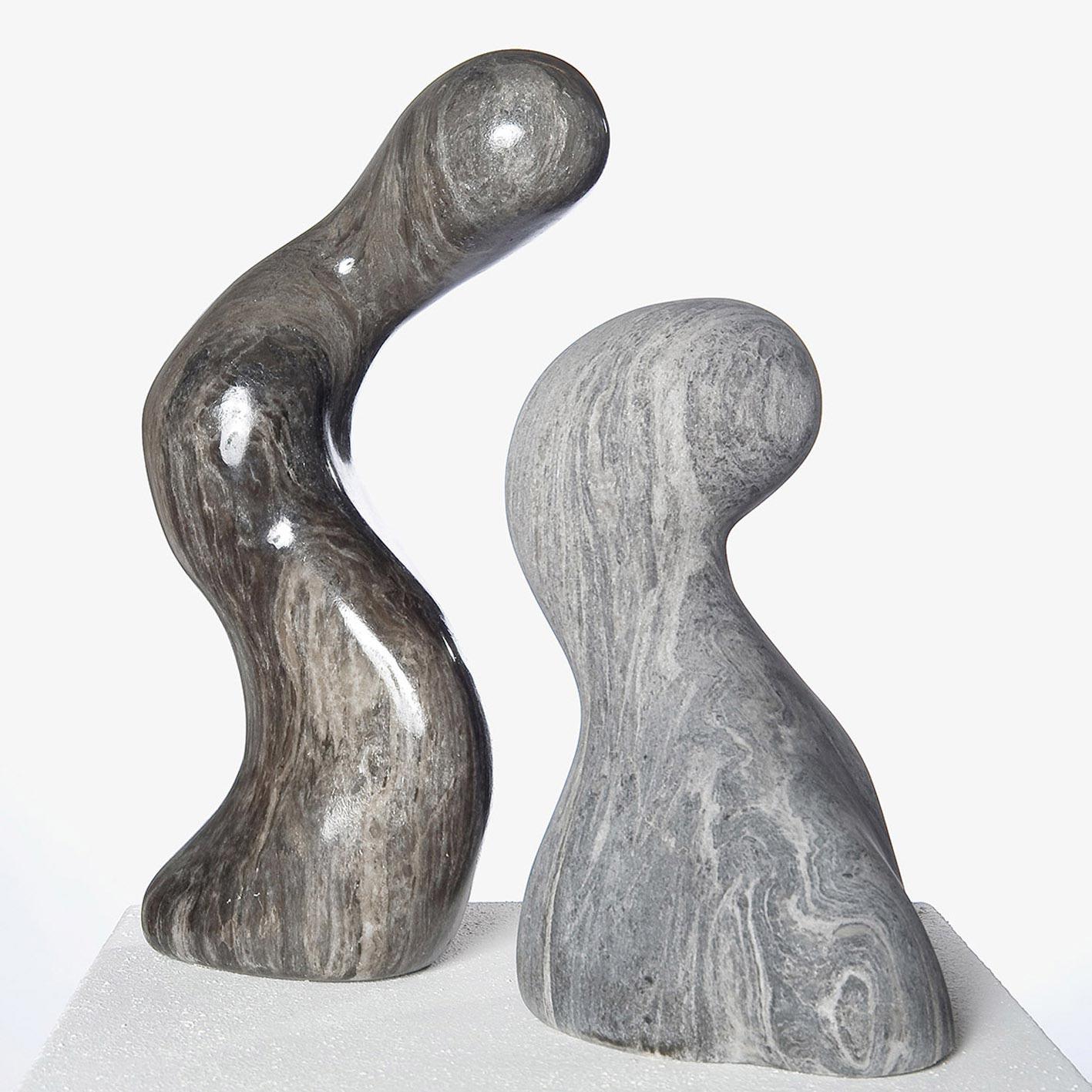 flowing friends, schwarzer Alabaster, 40/35/17 cm