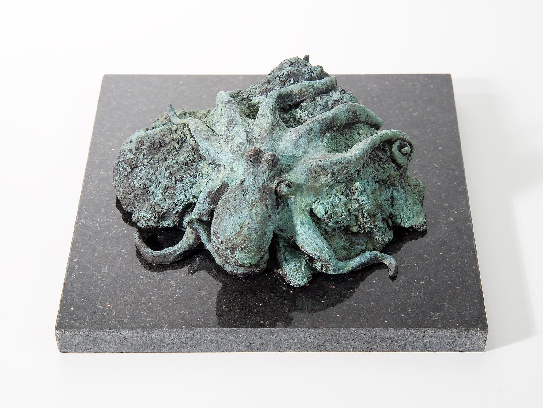 Pulpo, Bronze, patiniert, 8/20/16 cm