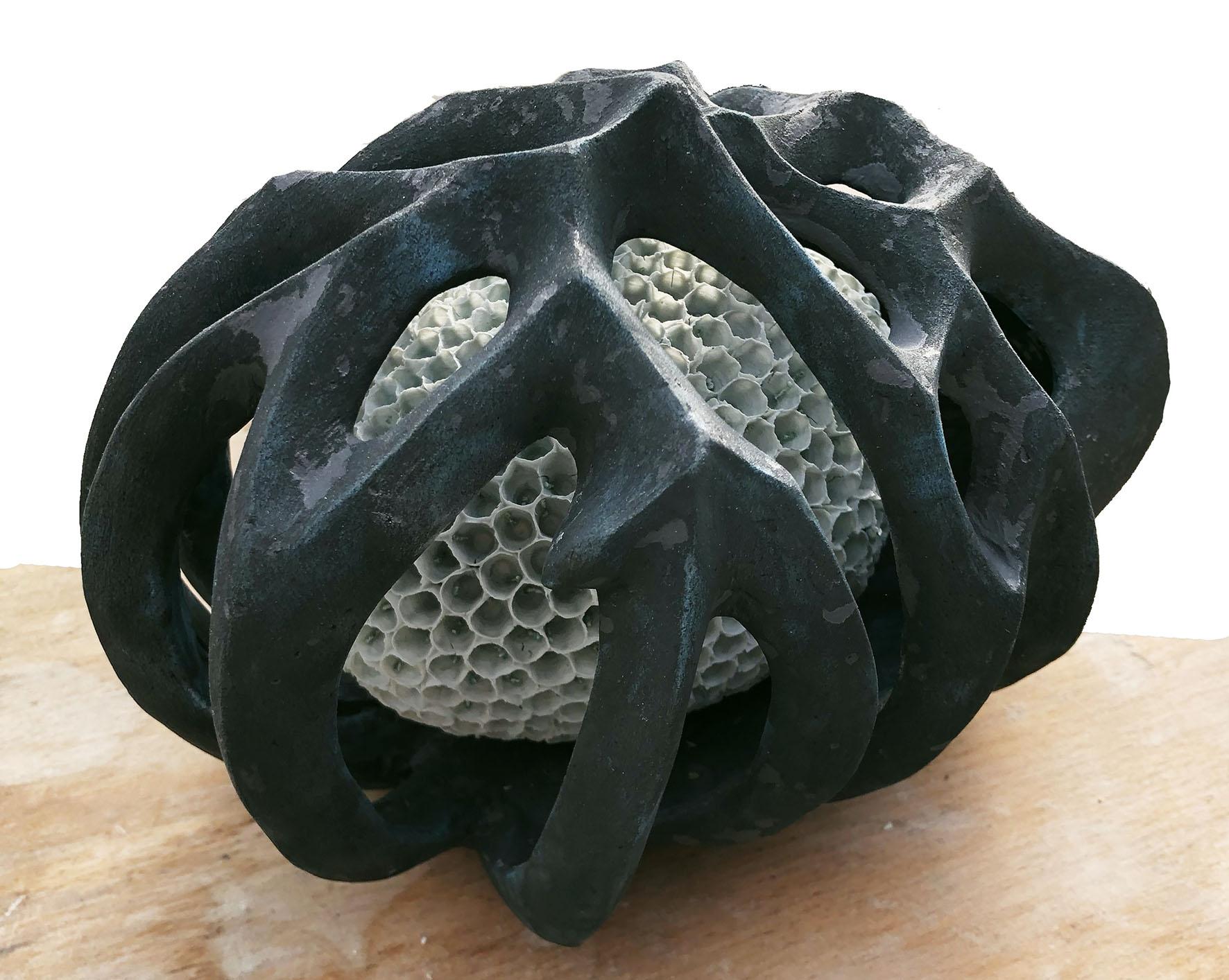 cage, porcelain, ceramic, 25/18/18 cm