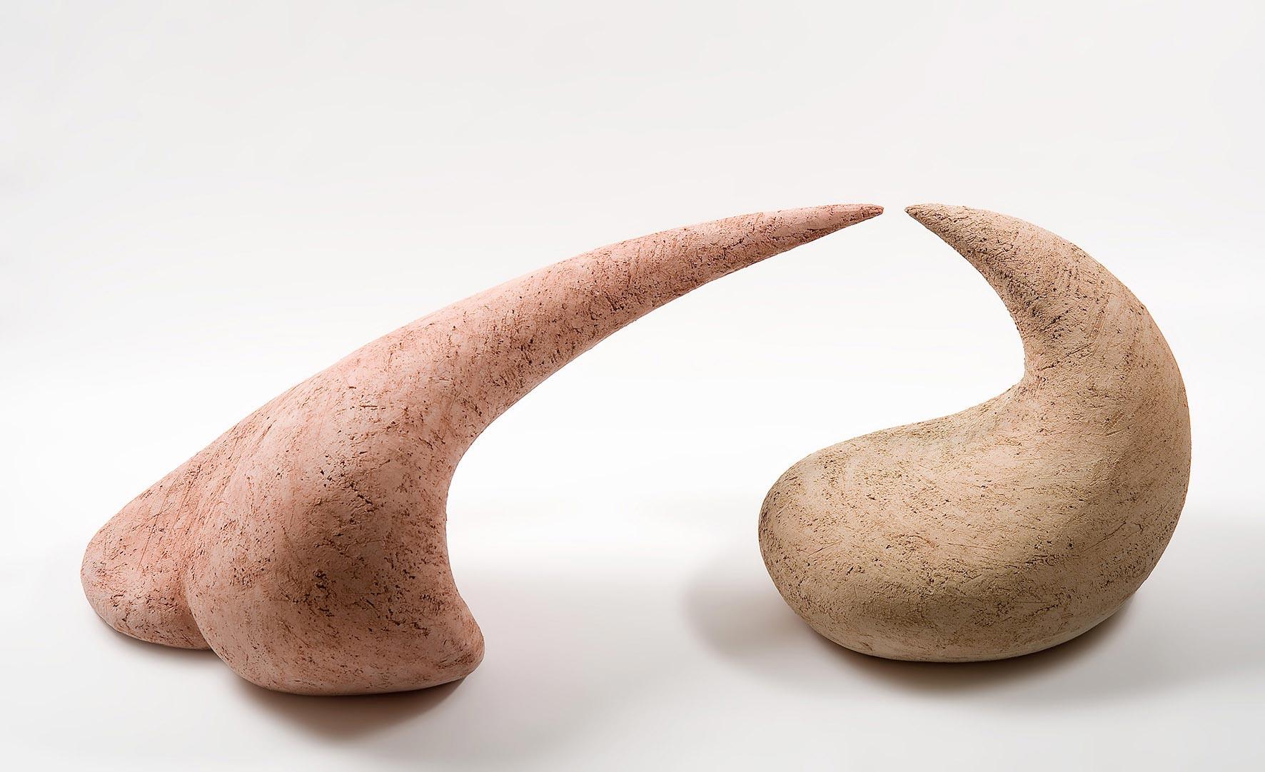 Der Kuss, 2tlg., Keramik, 100/35/33 cm