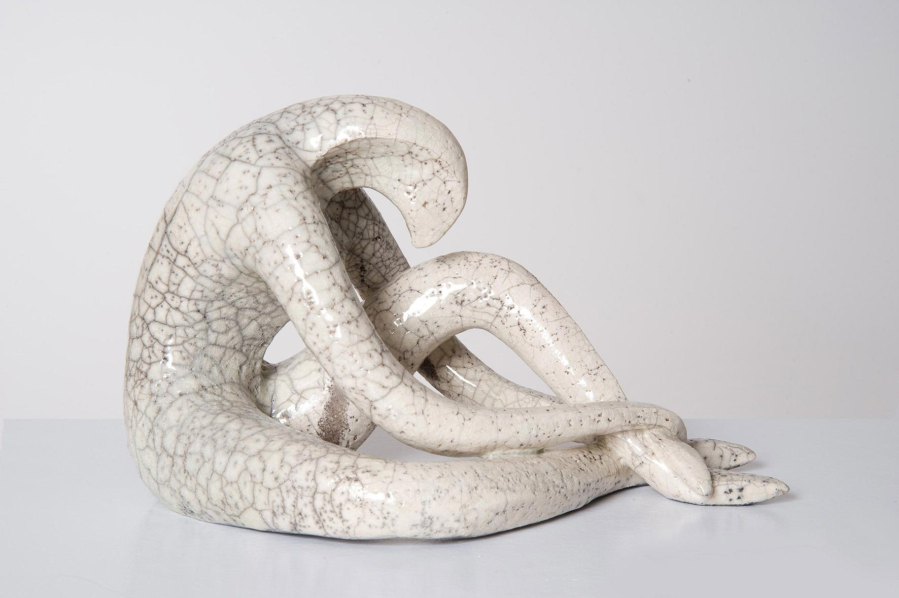 Schlangenmensch, Keramik (Raku), 18/30/18 cm