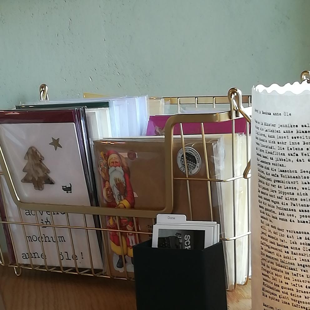 Postkarten in der Kaffeegiesserei