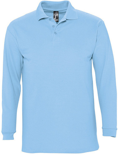 Polo homme jersey 280 grs/m2 manches longues