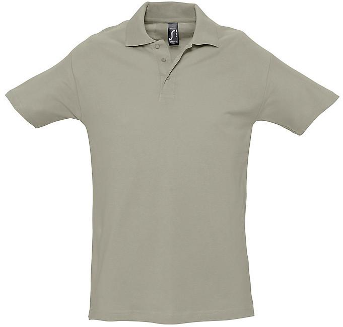 Polo homme coton piqué 180 grs/m2 gris
