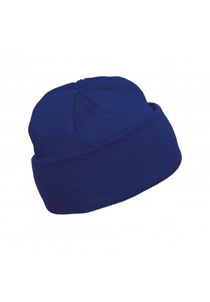 Bonnet maille bleu royal
