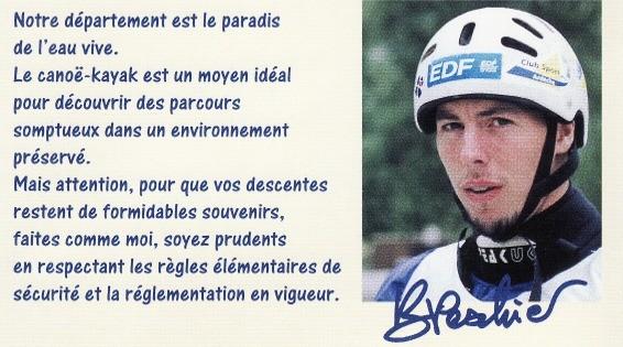 Benoit Peschier, champion olympique en kayak monoplace slalom à Athènes en 2004, membre du Club Vallon Plein Air
