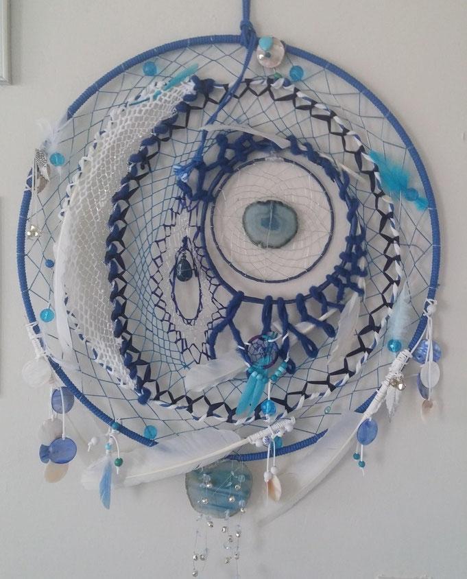 Koningsblauwe Dromenvanger met edelstenen
