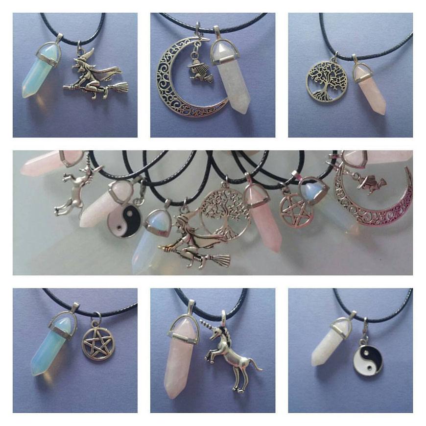 Sieraden met edelstenen en symbolen worden op bestelling gemaakt