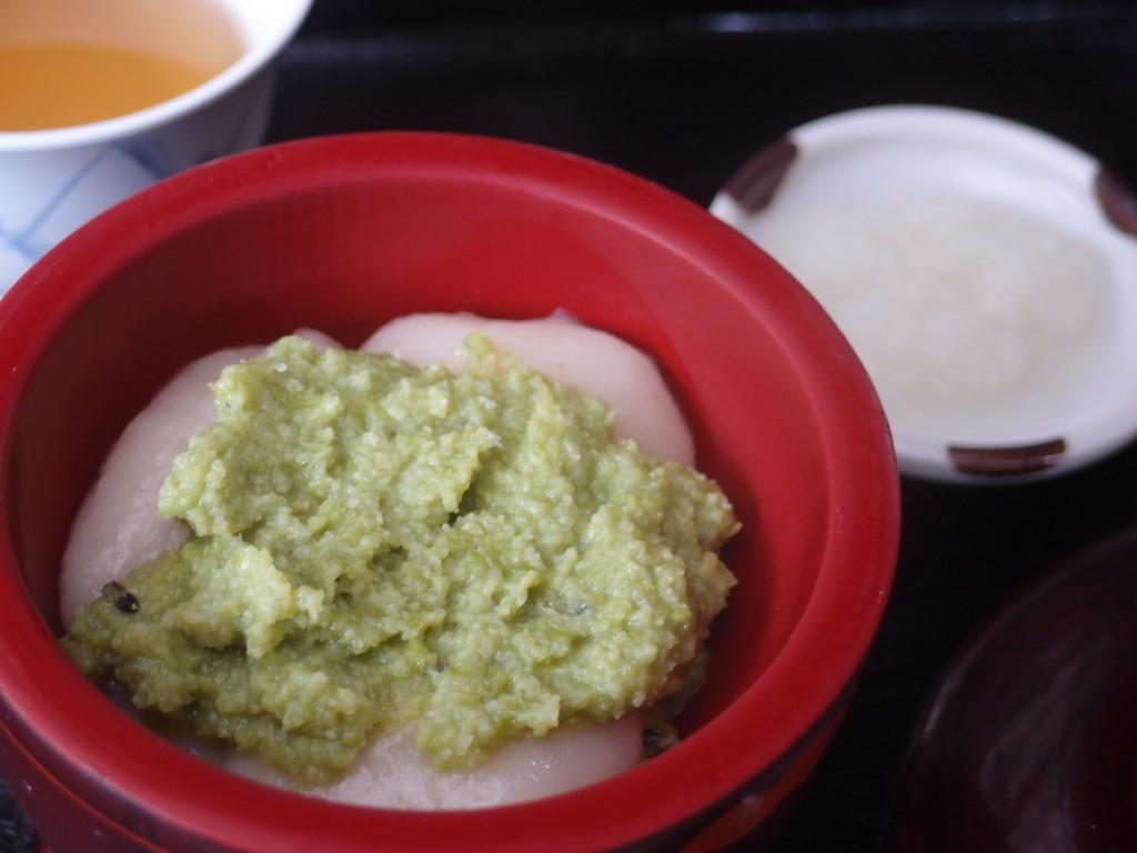zunda mochi(Motsuji-Temple)