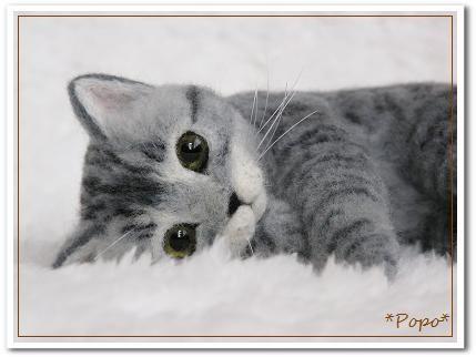 羊毛フェルト猫 さばとら