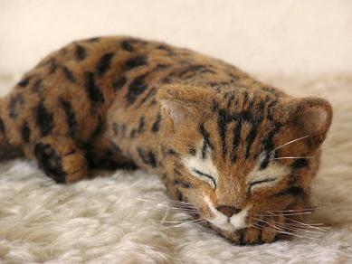 羊毛フェルト猫 ベンガル