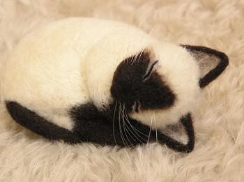 羊毛フェルト猫 シャム