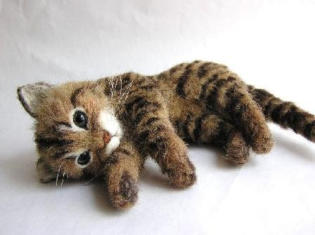羊毛フェルト猫 キジトラ