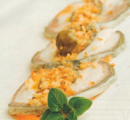 Ricetta carpaccio di anguilla allo zafferano
