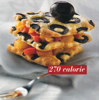 Tris di salatini alle olive con peperoni