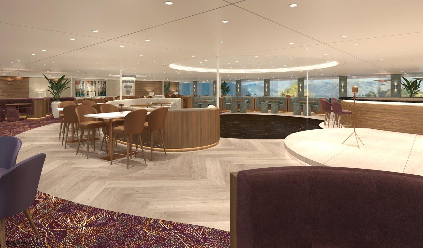 MS Century Glory Panorama Lounge mit Bar