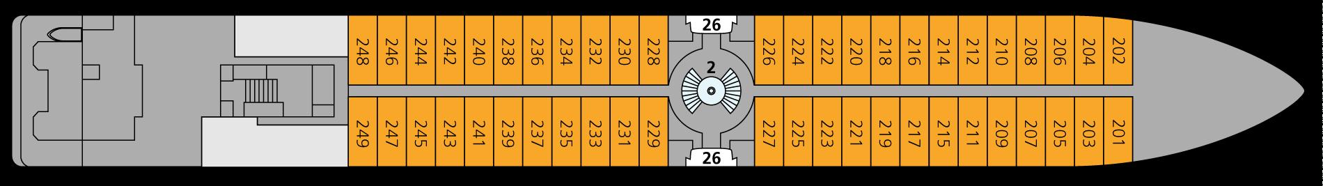 A-ROSA DONNA Deck 2