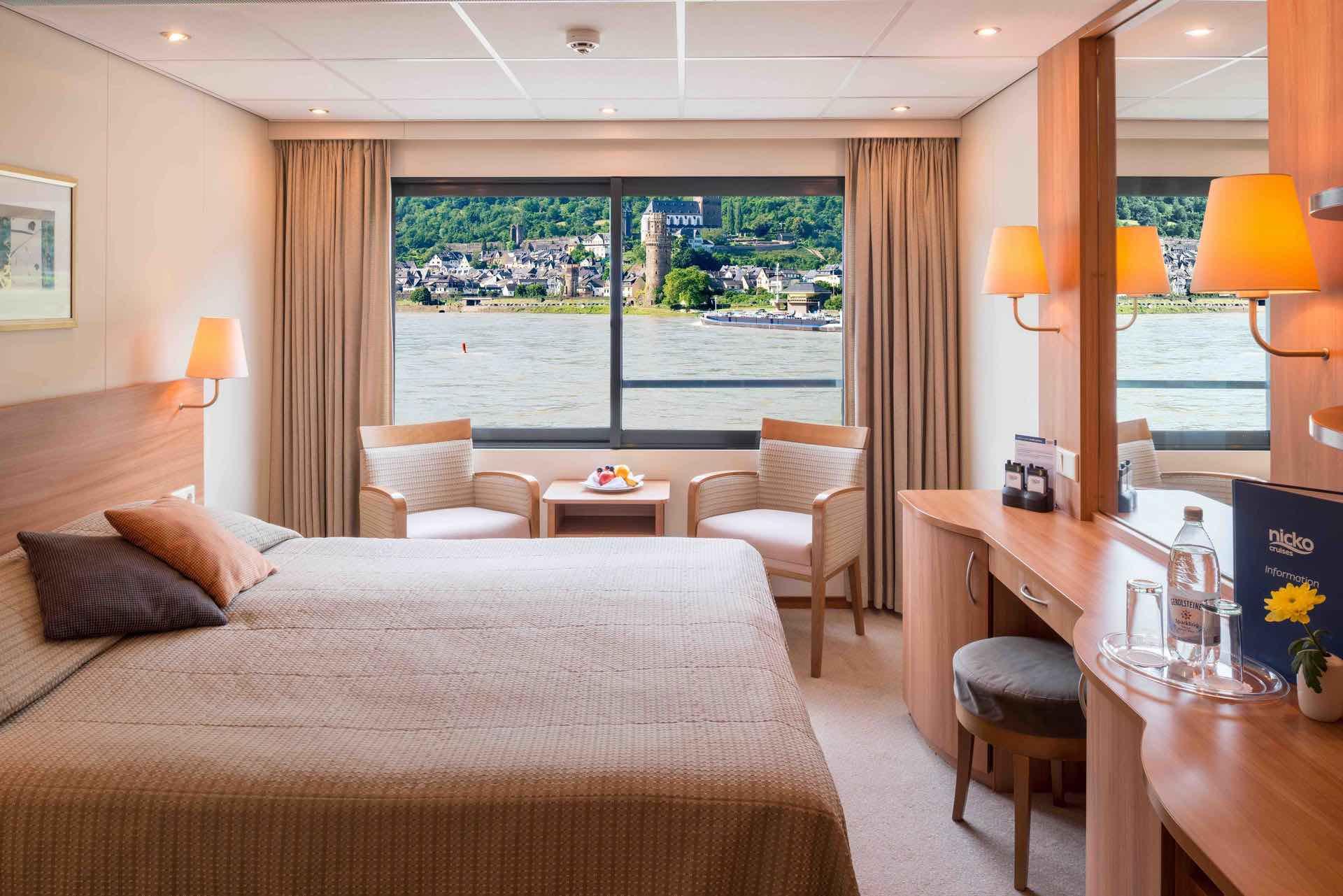 MS Rhein Melodie Kabine mit Panoramafenster