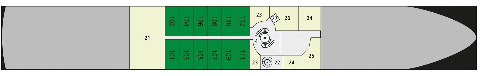 A-ROSA SENA Deck 1