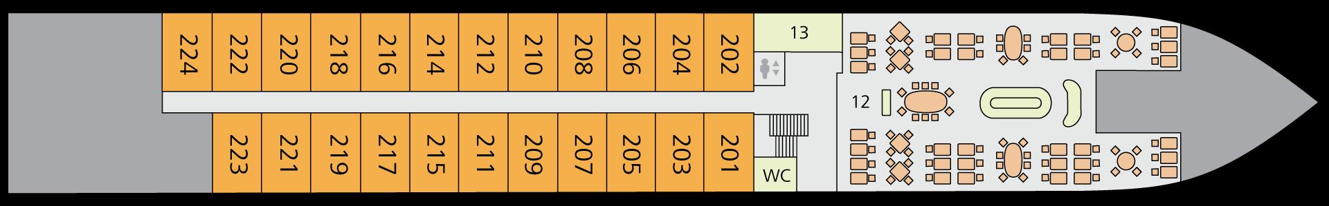 A-ROSA ALVA Deck 2