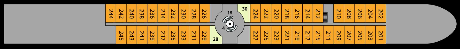 A-ROSA BRAVA Deck 2
