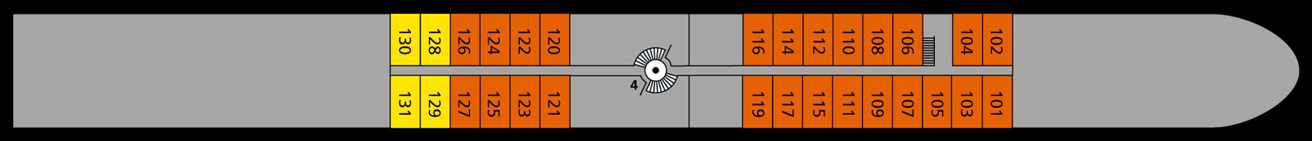 A-ROSA BRAVA Deck 1