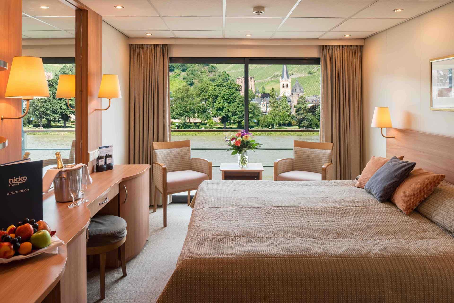 MS Rhein Melodie Außenkabine mit französischem Balkon