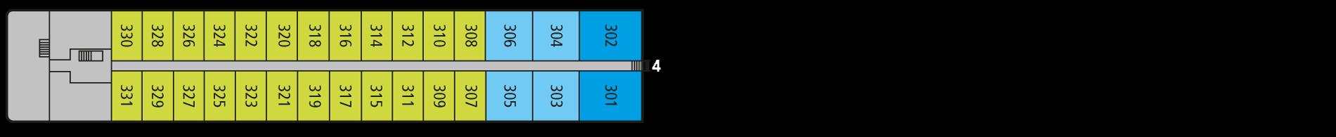 A-ROSA SILVA Deck 3
