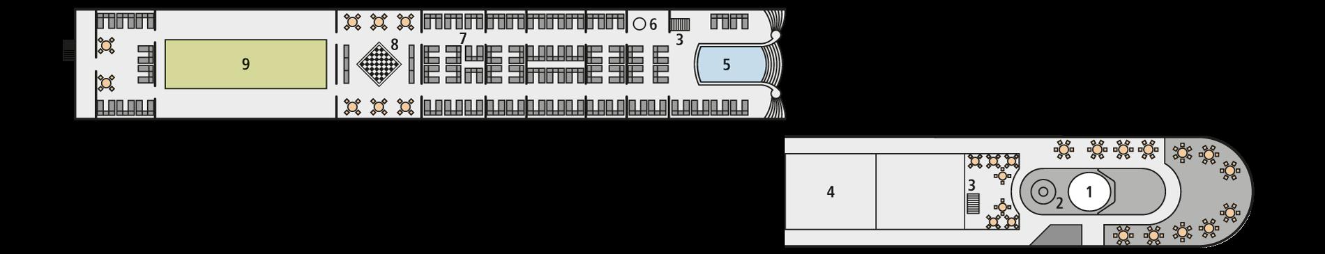 A-ROSA SILVA Deck 4