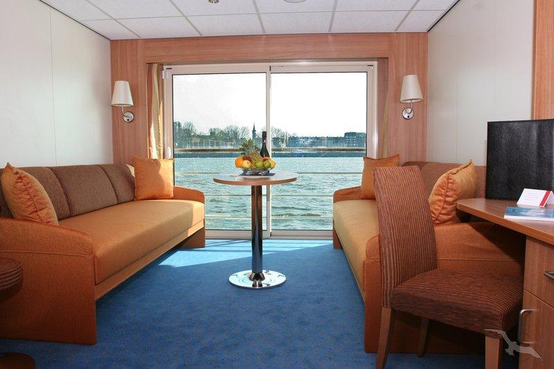 MS Aurelia Außenkabine Komfort mit französischem Balkon