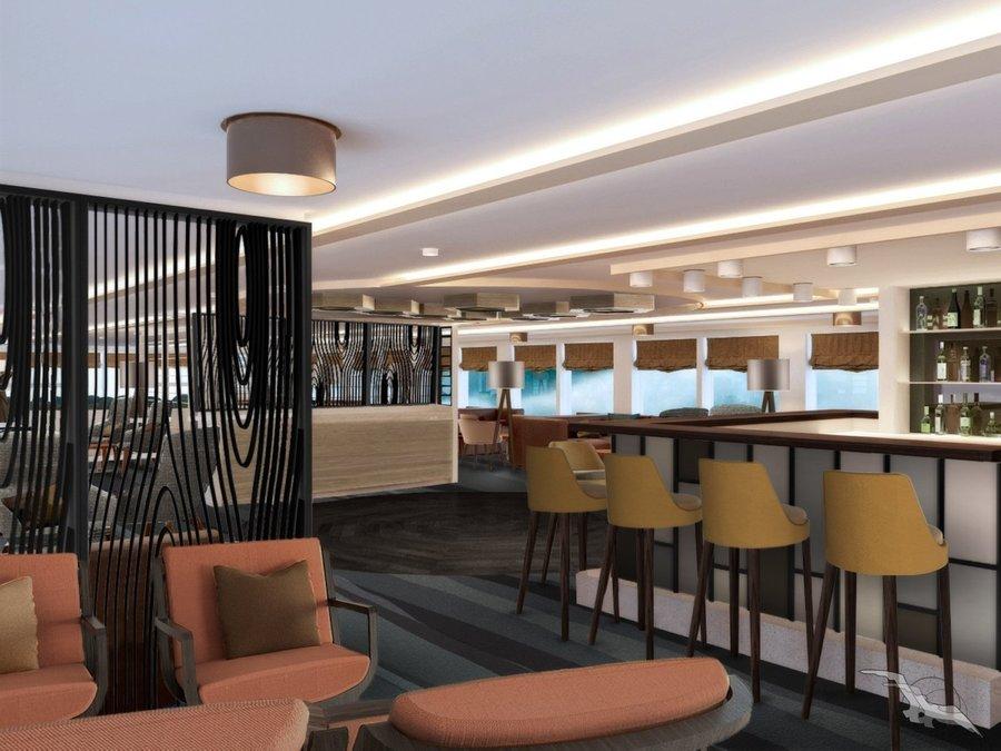 MS Antonia Panorama Lounge mit Bar