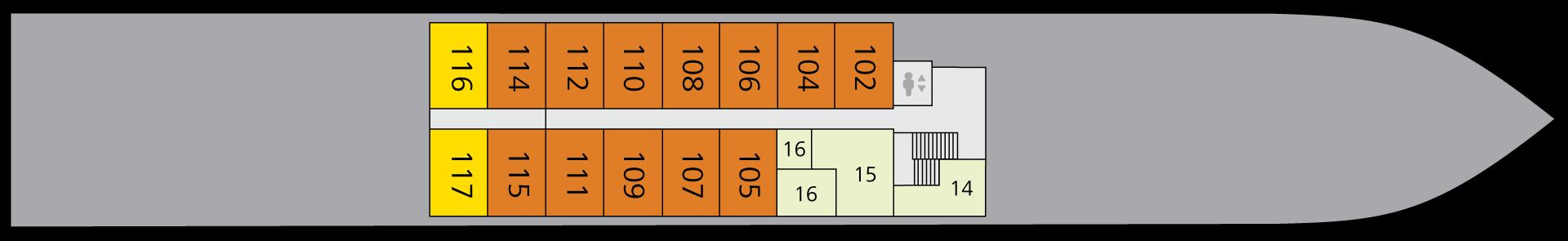 A-ROSA ALVA Deck 1
