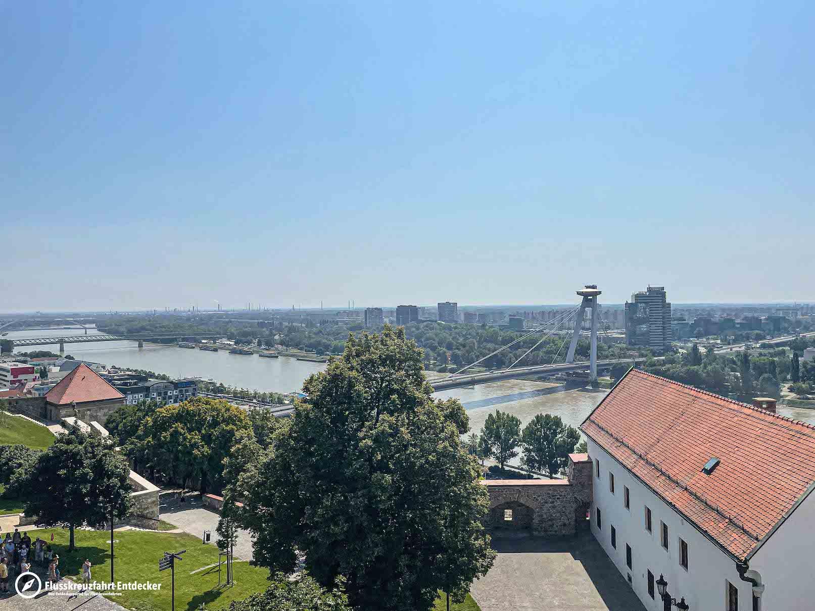 Aussicht auf Bratislava von der Burg