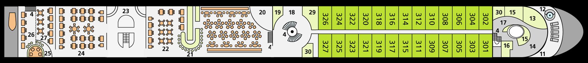 A-ROSA BRAVA Deck 3