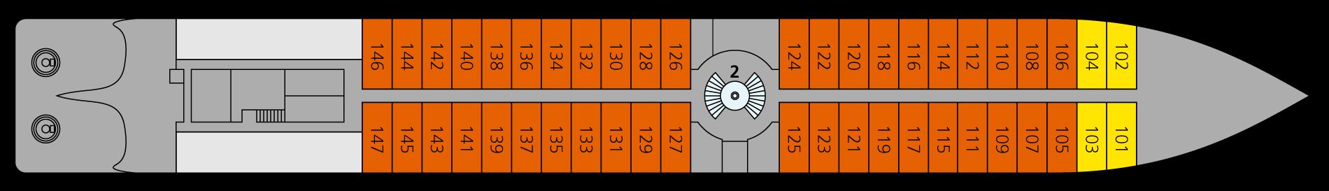 A-ROSA DONNA Deck 1