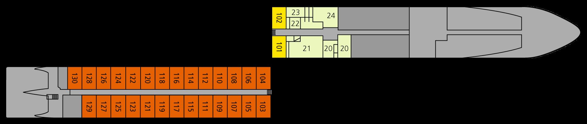 A-ROSA LUNA Deck 1
